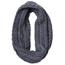 D'lux Luca Cableknit Black Snood Napier, New Zealand