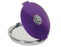 Compact Magnifying Mirror with Swarovski Crystals Napier New Zealand