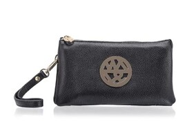 Willow & Zac Sophia Black Leather Clutch in Napier New Zealand